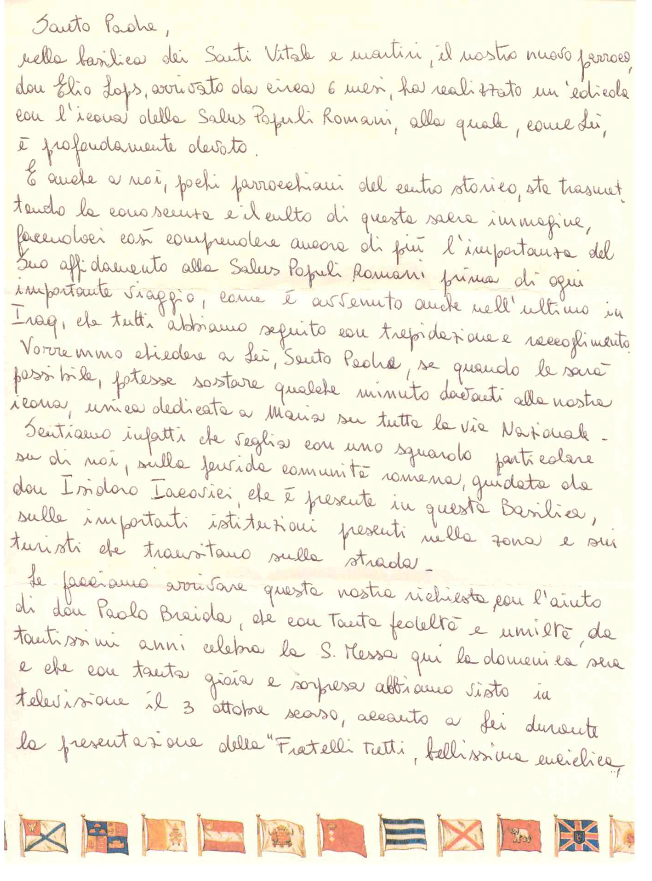Lettera per il Papa 1
