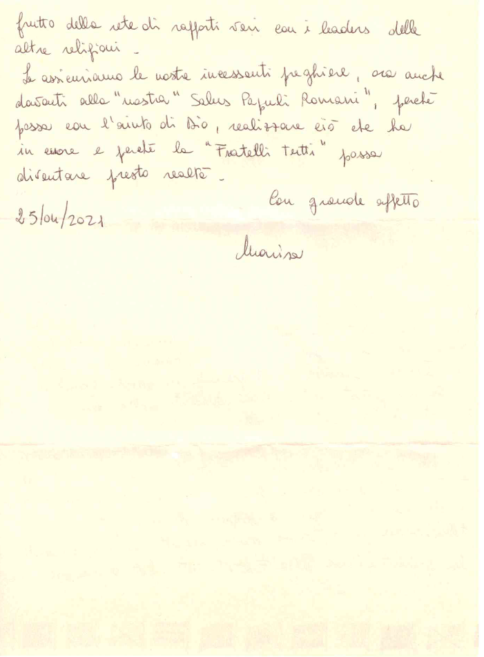 Lettera per il Papa 2